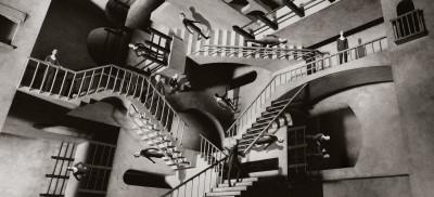 http://galleryhip.com/escher-stairs-wallpaper.html