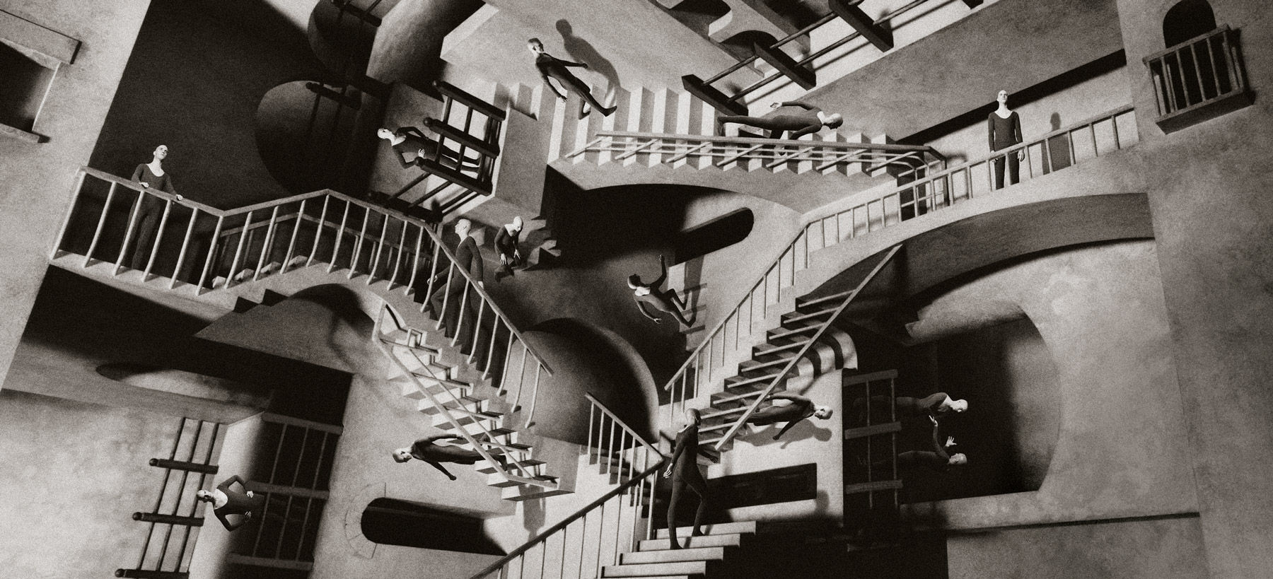 http://galleryhip.com/escher-stairs-wallpaper.html